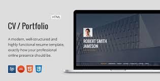 resume portfolio template cv portfolio responsive resume by bitpub themeforest