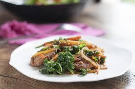 recette cuisine wok wok de chou kale au porc recette interfel les fruits et légumes