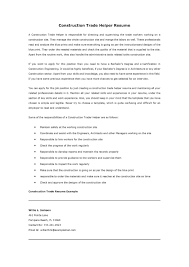 resume template construction worker helper resume sample free resume example and writing download construction helper resume sample