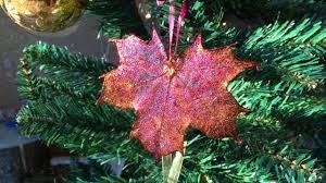 real leaf ornaments