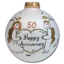50th anniversary ornaments buy 50th wedding anniversary glass ornament personalized christmas