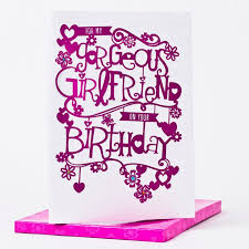 boxed birthday card gorgeous girlfriend only 1 99
