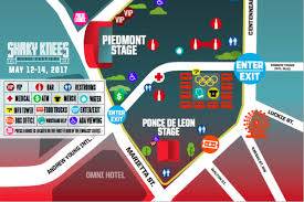 Road Atlanta Track Map by Map Reconfigured Shaky Knees Festival Will Overtake Downtown