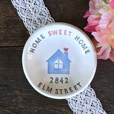 gifts for new apartment owners home sweet home personalized housewarming gift dish ceramic