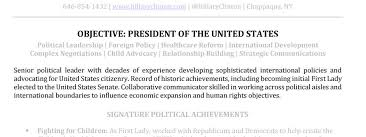 resume key terms applying for presidency topresume