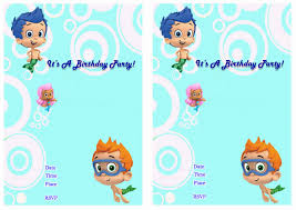 bubble guppies birthday invitations reduxsquad com