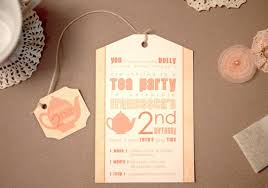 items similar to printed tea party birthday invitations and