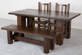 hand crafted barnwood dining table by viking log furniture