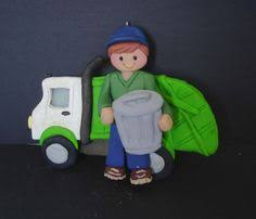 garbage truck worker ornament by alongcameaspider1