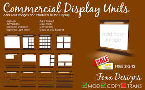 second marketplace commercial display units by foxx designs