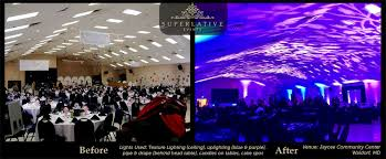 wedding lighting exles before after