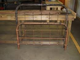rustic metal bed frame double bed frame with under storage bedding