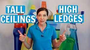 how to clean high ceiling fans how to clean tall ceiling fans and window ledges youtube