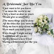 Matron Of Honor Poem Items In Last Minute Bargains Shop Shop On Ebay