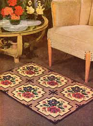 Rose Area Rug Cross Stitch Needlepoint Rose Design Area Rug Vintage Crafts And