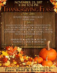 thanksgiving at the faust in new braunfels the official site