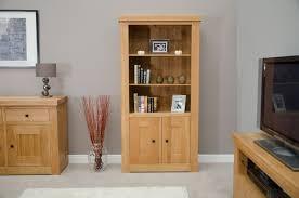 Bookcase Cupboard Houston Solid Oak Furniture Living Room Office Cupboard Bookcase