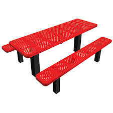 Commercial Outdoor Tables Commercial Outdoor Permanent Mount Perforated Picnic Table Select