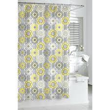 Yellow And White Shower Curtain Gray Yellow White Shower Curtain Shower Design