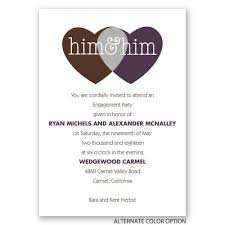shared love mr and mr engagement party invitation invitations
