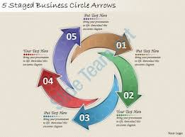 1814 business ppt diagram 5 staged business circle arrows