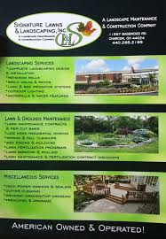 Landscape Maintenance Contract by Signature Lawns U0026 Landscaping Inc Snow Removal Services