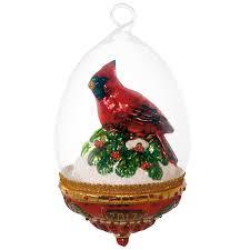 cardinal home decor cardinal dome blown glass ornament specialty ornaments hallmark