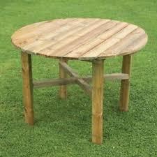 garden wooden round table 100 cm outdoor patio furniture dining