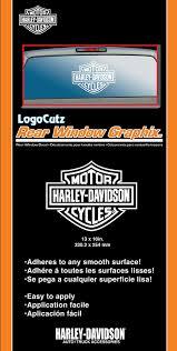 amazon com harley davidson logo cutz rear window decal harley