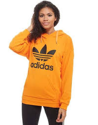 ribbed trims snug on invaber trefoil hoodie from adidas