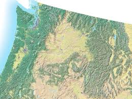 Topographical Map Of Usa by Northwest Usa Topo Map Idaho U2022 Mappery