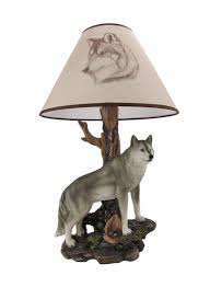 denizen of twilight gray wolf table lamp amazon com