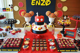 mickey mouse decorations mickey mouse birthday table decoration ideas image inspiration
