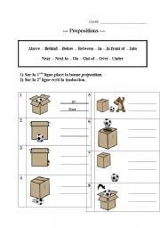 english teaching worksheets prepositions