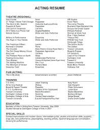 musical theatre resume template resume theatrical resume template word exle actor format and