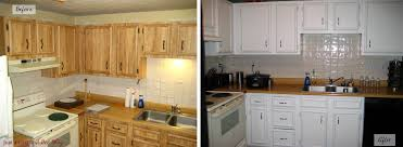 Before And After White Kitchen Cabinets Kitchen Furniture Painting Kitchen Cabinets Before And After Dsc