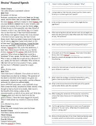 Irony Worksheet 15 02 08 Convincing The Masses Rhetoric In Julius Caesar