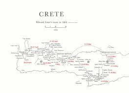 Crete Map Map Of Lear U0027s Travels In Crete Edward Lear And Crete