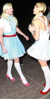 paris hilton dresses up as dorothy as hollywood gets into the