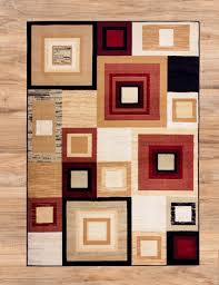 Squares Area Rug Bismuto Squares Runner Contemporary Abstract Modern Geometric