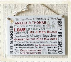 wedding gift personalised wedding gift personalised wooden card happy plaque marriage