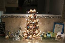 christmas cupcake tower window display picture of upsy daisy