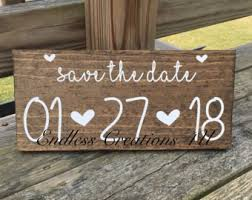 Save The Date Signs Save The Date Sign Etsy