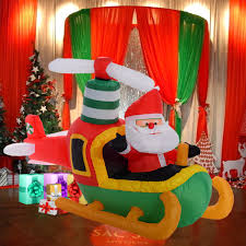 Led Christmas Decoration Lights Products by Outdoor Large Inflatable Christmas Decoration Santa Claus Pilot