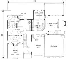 colonial style house plan 4 beds 3 50 baths 2750 sq ft plan 129 123