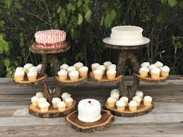 rustic cake stand 2 diamond shaped collapsible stands wood rustic cake cupcake stand