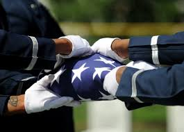 Honor Flag Folded American Flag In Honor Of The Fallen Clipart Clipground