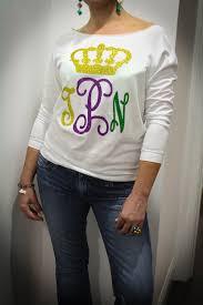 mardi gras tshirt of my krewe monogrammed mardi gras shirt glam a