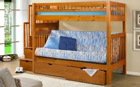 Bunk Bed Futon Combo Furniture Morelle Full Captain With Trundle By Home Elegance In