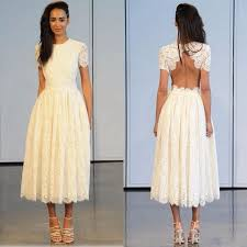online buy wholesale tea length wedding dresses sleeves from china